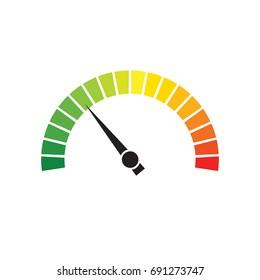Speedometer dial vector icon illustration