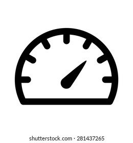 Speedometer gauge or car dashboard line art vector icon for apps and websites
