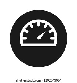Speedometer gauge icon vector illustration design isolated on flat black round button