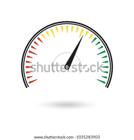 speedometer icon gauge rpm meter logo のベクター画像素材