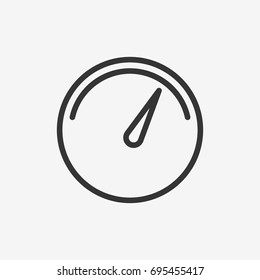 Speedometer icon illustration isolated vector sign symbol