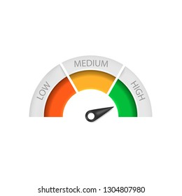 Speedometer icon isolated on white background. Vector illustration.