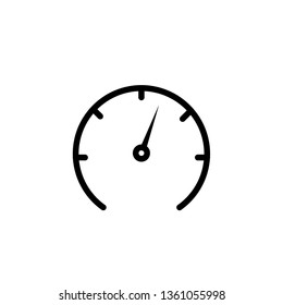 Speedometer icon vector for graphic design, logo, web site, social media, mobile app, ui illustration