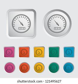 Speedometer icon. Vector illustration.