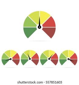 Speedometer icons, easy, normal, medium, hard