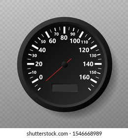Speedometer. Kilometers per hour. Vector stock illustration.