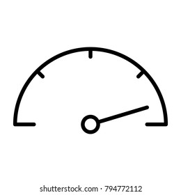 Speedometer Line Icon.  96x96 for Web Graphics and Apps.  Simple Minimal Pictogram. Vector