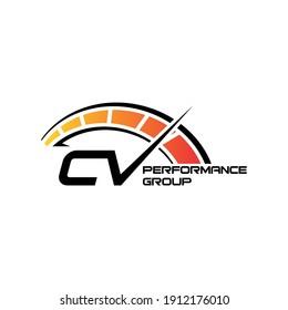 speedometer logo design eps 10