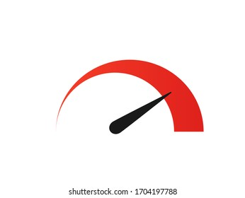 Speedometer logo design. Flat simple vector icon. Isolated illustration