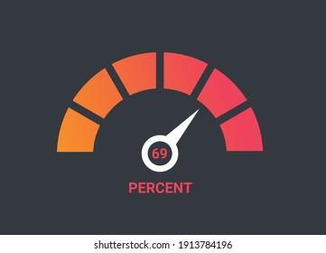 Speedometer logo. Flat design. Infographic element.