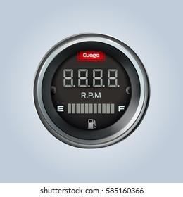 Speedometer Motorcycle Car Tachometer Fuel Gauge LED-Digital Display