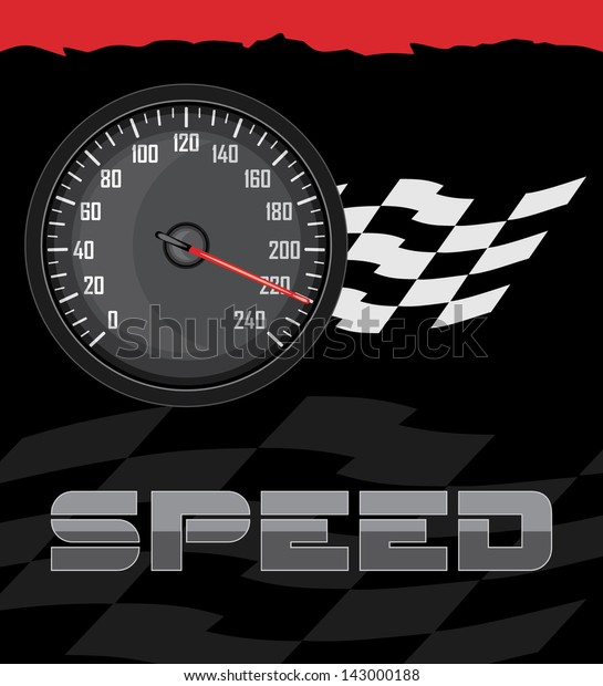 speedometer-on-abstract-background-vecto