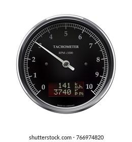 Speedometer Tachometer Motorcycle Universal LCD-Digital Odometer digital gauge