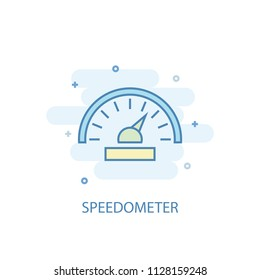 speedometer trendy icon. Simple line, colored illustration. speedometer symbol flat design from Car Service set. Can be used for UI/UX
