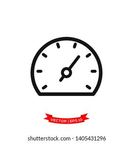 speedometer vector icon in trendy flat design