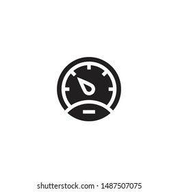 Speedometer vector icon in trendy flat design. The tachometer and indicator sign. Performance measurement symbol. Vector illustration