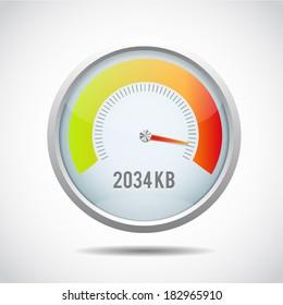 Speedometer Vector Illustration Stock Vector Royalty Free