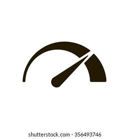 Speedometers   icon,  isolated. Flat  design.