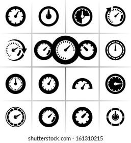Speedometers vector icons