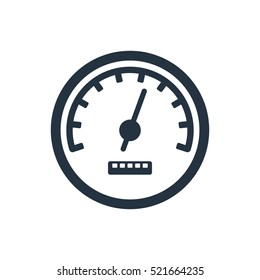 speedometr, odometer isolated icon on white background, auto service, repair, car detail