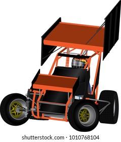 Speedway Racing Car Vector
