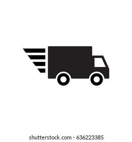 Speedy delivery wagon icon