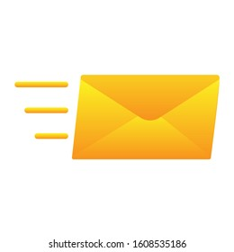Speedy Email Delivery icon or sign or symbol