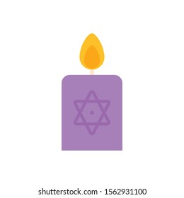 spell candle imagination mystery magic flat icon vector illustration
