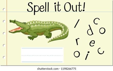 Spell crocodile