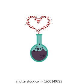 spell love in tube test fairytale object isolated icon vector illustration design