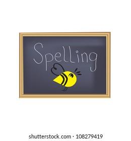 Spelling Bee Chalkboard Vector