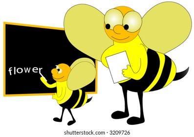 Spelling bee vector.