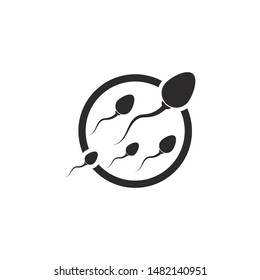 Sperm / Spermatozoa vector logo icon illustration design