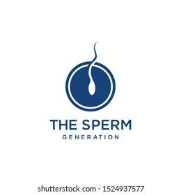 Sperm symbols on the human body logo design