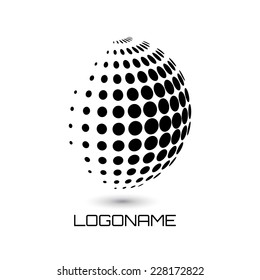 Sphere abstract vector logo design template. Business Technology circle icon.