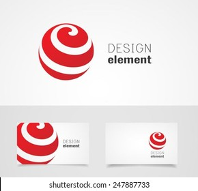 Sphere abstract  vector logo design template and business card template