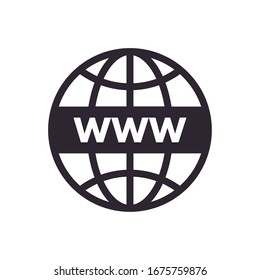 sphere browser globe line style icon vector illustration design