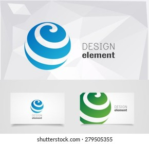 Sphere Circle abstract lines vector logo design template
