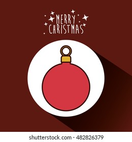 sphere icon. Merry Christmas season decoration figure theme. Colorful design. Vector illustration