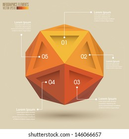 Sphere Infographic template vector