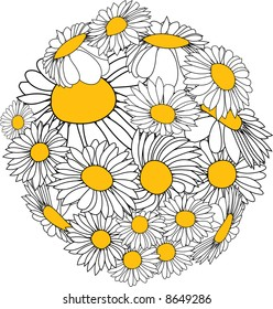 Sphere made from marguerites