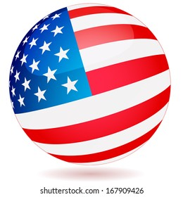 Spherical Flag of the United States of America
