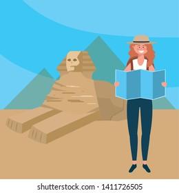 The Sphinx of Giza design