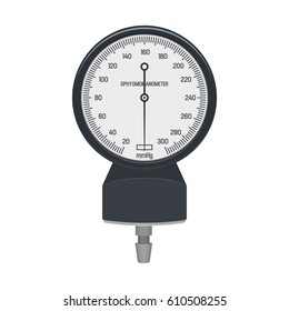 Sphygmomanometer Dial / Tonometer Flat Vector