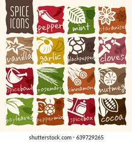 Spice icon set.