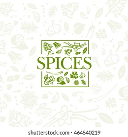 Spices logo design with background