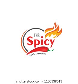 The Spicy Family Restaurant Logo Vector Design