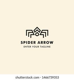 Spider Arrow Logo Concept Icon Arrow With Spider.