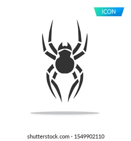 spider icon isolated on white background.