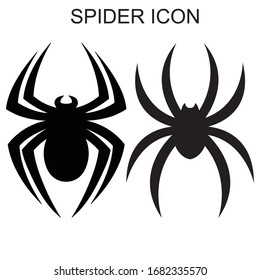 Spider icon. Set of the spider icon.